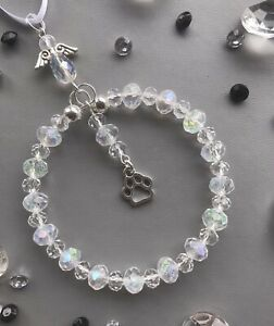 Crystal Ornament Paw Print Pet Memorial - Suncatcher