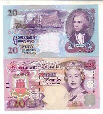 Gibraltar  Gibilterra  $20 1995  FDS  UNC     pick 27a  lotto 2309
