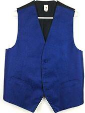 Robert Talbott Protocol Royal Blue & Black Vest Size Large L #A029