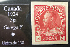 CANADA #138 VERY FINE  MINT H*IMPERF CAT.$25 POST OFFICE FRESH COLOR