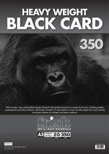 25 FOGLINero Maiale Rosa A3 Ritratto LIBRO Display270gsm Nero Card
