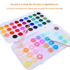 Ohuhu Non-toxic Formula Fundamentals Watercolor Pan Set Washable 36 Colors