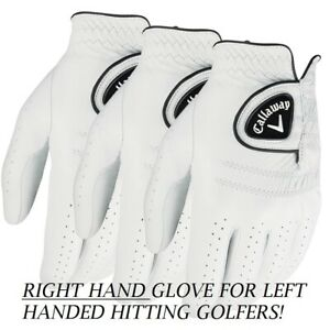 5 x Mens Callaway Tour Authentic Leather Golf Gloves - Large - Right Hand