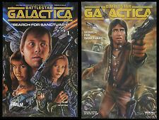 Battlestar Galactica Search for Sanctuary 1 + Special Ed. Comic Set Lot Cylon