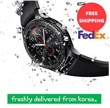 [SAMSUNG] Galaxy GEAR S3 Frontier Smart Watch SM-R760 Space Gray iOS FREE FedEx
