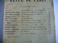 LA REVUE DE PARIS n° 13 - 1933 revue littéraire FLANDIN THIBAUDET LEHMANN etc