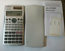 Original Casio fx-115Ms Scientific Calculator with cover Instructions Works