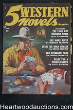 5 Western Novels Apr 1952 Poker game cover - High Grade