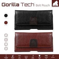 Leather Case Holster Magnet Flip Cover Genuine GT Belt Pouch For Mobile Phones