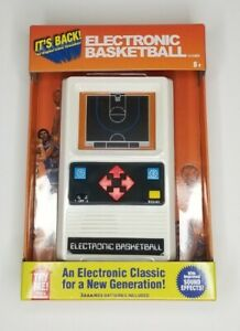 Basketball Handheld Electronic Game 70's Retro Mattel Classic Sounds Lights NEW!