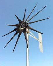 850 WATT 10 blade ULTRA LOW WIND 24 VOLT DC  2/WIRE NONCOG PMA TURBINE GENERATOR