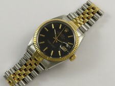Rolex OYSTER PERPETUAL DATEJUST 16013 18K GOLD & STEEL Gents Orologio ANNO 1985