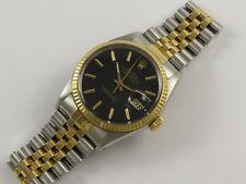Rolex Oyster hora permanente Datejust 16013 18K dorado y Caballeros Reloj De Acero Año 1985