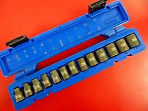"CORNWELL TOOLS #CBPI2M bluePOWER 3/8"" Drive 6-Pt. 13-Piece MM Impact Socket Set"