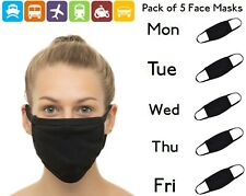 Pack of 5 Face Masks Reusable Washable Breathable Cover Cotton UK Multipack Fast