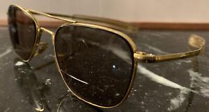 American Optical AO 52[]20 Original Pilot 140MM Gold Aviator Sunglasses Frames