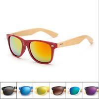 Mens Womens Bamboo Sunglasses Wooden Wood Retro Vintage Summer Glasses New