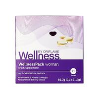 Oriflame Wellness Pack Woman Food Supplements Omega 3 astaxanthin clinical tests