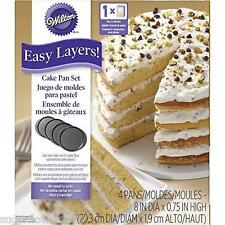 Wilton Easy Layers Round Cake Pan Set  Baking Tins NEXT DAY DESPATCH