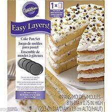 Wilton Easy Layers Round Cake Pan Set  Baking Tins NEXT DAY DESPATCH
