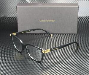 DOLCE & GABBANA DG5036 501 Black Demo Lens 51 mm Women's Eyeglasses