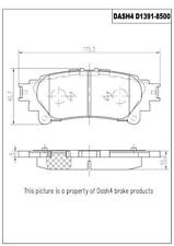 Disc Brake Pad Set-CERAMIC PADS Rear Dash 4 Brake CD1391