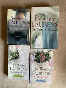 4 X HISTORICAL ROMANCE BOOKS BY STEPHANIE LAURENS,THE UNTAMED & ELUSIVE BRIDE...