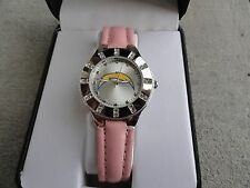 New San Diego Chargers Ladies Quartz Watch with a Pink Band