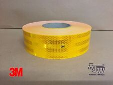 50m x55mm AMBER YELLOW Conspicuity Tape ECE104 Diamond Reflective 3M Truck Lorry