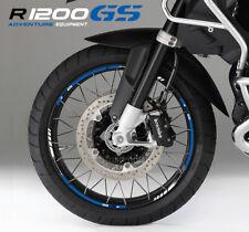 BMW R1200GS Adventure motorcycle wheel decals stickers rim stripes R1200 GS blue