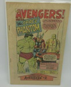 Marvel Super Heroes #1 (1966) Reprints Daredevil #1 & Avengers #2, Missing Cover