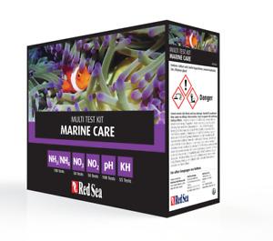 Red Sea Marine Care Test Kit 5 Pack NH3, NO2, NO3, PH & ALK Reef Saltwater Kit