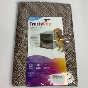 New Trusty Pup Cozy Cove Crate Cover Size Large Brown Tan