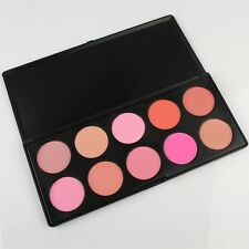 Hot 10 Colors Blusher Makeup Cosmetic Blush Powder Palette  Pink Rose Peach Cora