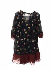 MOULINETTE SOEURS Knee Length Dress Rust Black Floral Boho Size Small