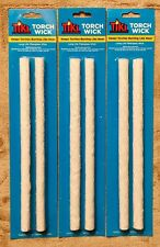 TIKI TORCH WICK 6 Fiberglass Replacement Wicks for Tiki Torch (3 packs of 2) NEW