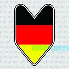 German Flag JDM Design Car Vinyl Decals/Stickers