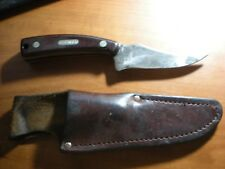 VINTAGE SCHRADE OLD TIMER SHARP FINGER #152 WITH RARE DROP POUCH SHEATH