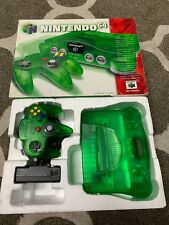 NINTENDO 64 CONSOLE JUNGLE GREEN COMPLETE BOXED PAL