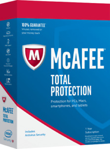 McAfee Total Protection 2021 1 User 1 Year for New & Existing Customers