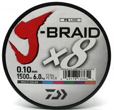 Daiwa J - Braid X8 fach geflochten Schnur Multi Color 0,10mm 6,0kg