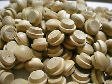 "100 pcs Mushroom Head SCREW HOLE WOOD BUTTONS covers screwholes FITS 3/8"" HOLE"