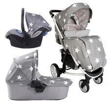 My Babiie MB200+ Baby / Child Travel System - Billie Faiers Grey Stars