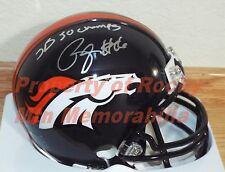 "Denver Broncos BENNIE FOWLER Signed Mini Helmet w/ ""SB 50 CHAMPS"" Inscription"