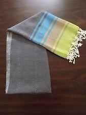 Rainbow Turkish Cotton Large Towel - Beach Bath Peshtemal Towel - Gray