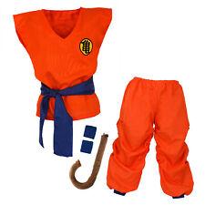 Son Goku disfraz Dragón Ball costume niños chándal cosplay