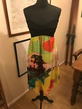 Diane Von Furstenberg strapless, ASTI bustier dress, size 10
