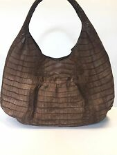 Nancy Gonzalez Brown Matte Crocodile Shoulder Bag