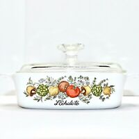Vintage Corning Ware  L'Echalote Spice Of Life Casserole Dish A1B w/Lid 1 Quart
