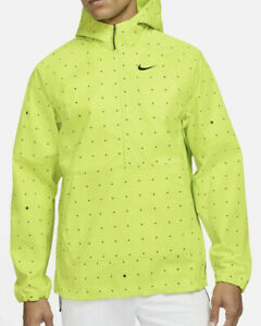 Nike Repel Printed Golf Anorak Packable Summit Jacket Green Sz M Men's NWT $120